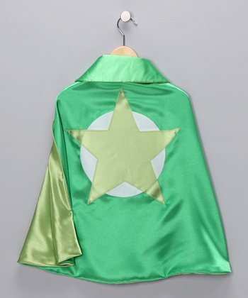 Grass & Lime Soaring Star Two-Ply Hero Cape