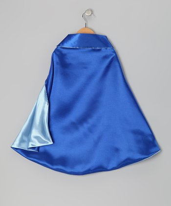 Blue & Light Blue Two-Ply Hero Cape