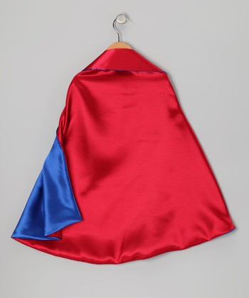 Red & Blue Two-Ply Hero Cape