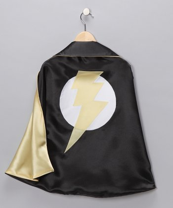 Black & Yellow Lightning Leader Two-Ply Hero Cape