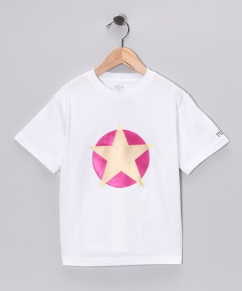 White & Yellow Soaring Star Tee - Toddler & Kids