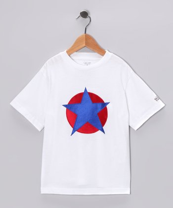 White & Blue Soaring Star Tee - Toddler & Kids