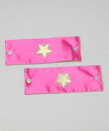 Hot Pink & Yellow Soaring Star Power Cuffs