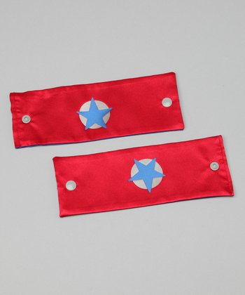 Red & Blue Soaring Star Power Cuffs