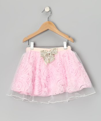 Pink Paris Flower Skirt - Toddler & Girls