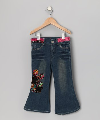 Denim Doodle Patch Flare Jeans - Toddler & Girls
