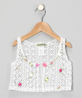White Berry Yum Vest - Toddler & Girls