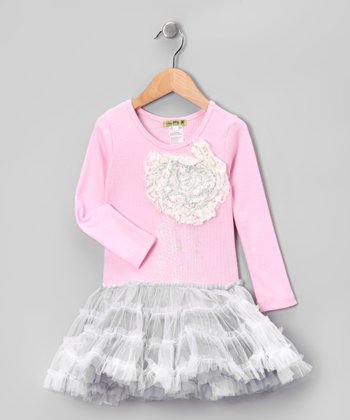 Pink Baby Bride Lace Tutu Dress - Toddler & Girls
