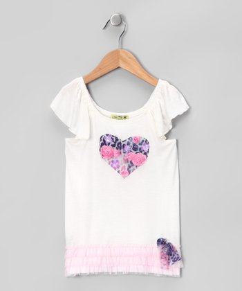 White Pink Panther Top - Toddler & Girls