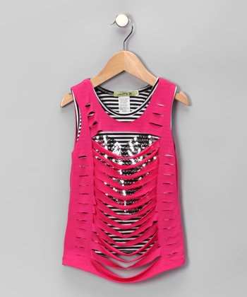 Fuchsia Crazy Tank - Toddler & Girls