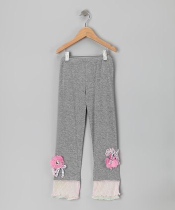 Heather Gray Melon Bar Leggings - Infant & Girls