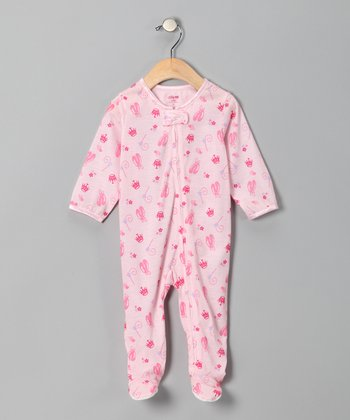 Pink Ballet Princess Footie - Infant