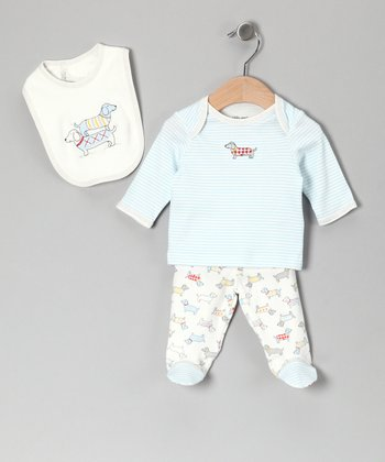 White Dachshund Tee Set - Infant