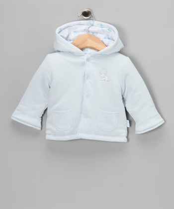 Blue Cute Reversible Jacket - Infant