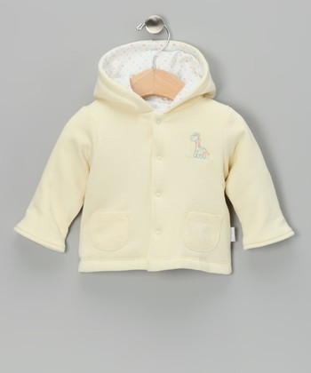 Yellow Giraffe Polka Dot Reversible Jacket - Infant