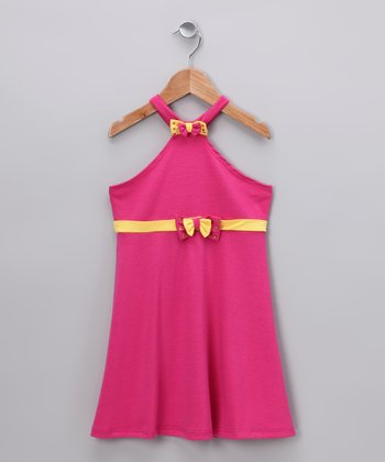Fuchsia Halter Dress - Toddler