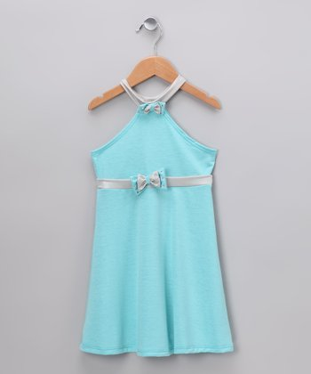 Baby Blue Halter Dress - Infant, Toddler & Girls