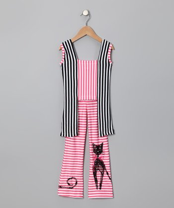 Pink Cat Top & Pants - Toddler & Girls