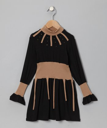 Black & Brown Dress - Toddler