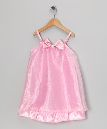Pink Sparkle Dress - Toddler & Girls