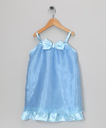 Blue Sparkle Dress - Toddler & Girls