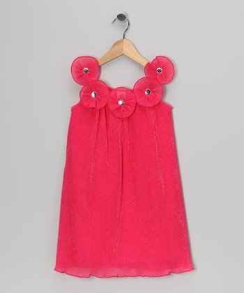 Fuchsia Floret Dress - Toddler & Girls