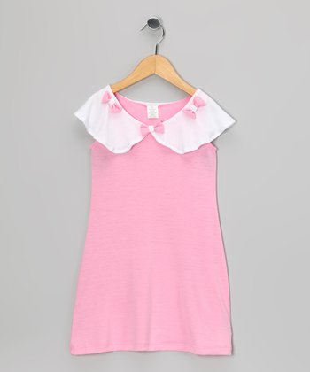 Pink Bow Dress - Infant, Toddler & Girls