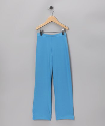 Blue Drawstring Pants - Girls