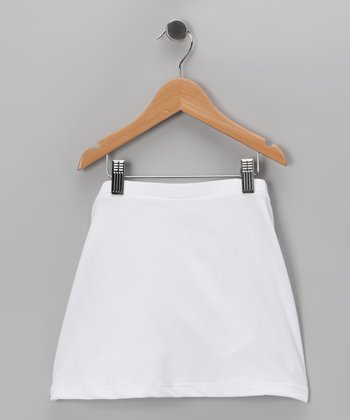 White Tennis Skirt - Girls