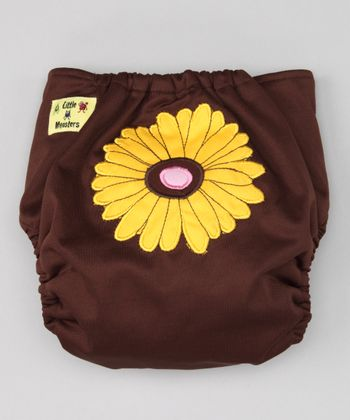 Brown Sunflower Pocket Diaper