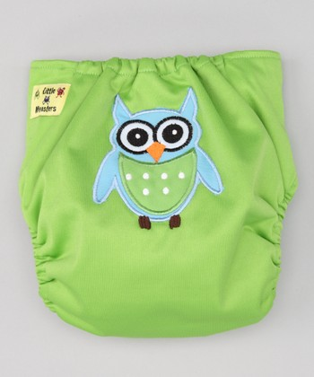 Green Owl Pocket Diaper