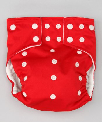 Red Pocket Diaper