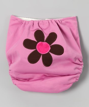 Pink Flower Pocket Diaper
