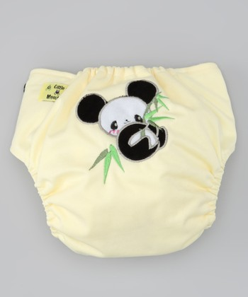 Light Yellow Panda Pocket Diaper