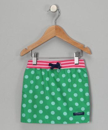 Green Polka Dot Organic Deck Skirt - Toddler & Girls