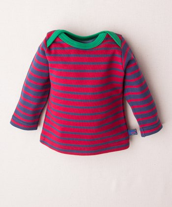 Red & Blue Stripe George Organic Top - Infant