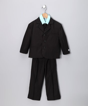 Black & Turquoise Suit Set - Toddler & Boys