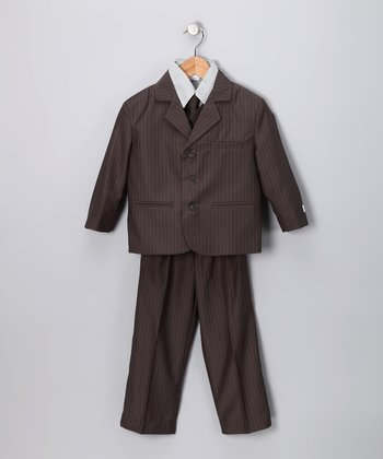 Little Stallion Gray Suit Set - Toddler & Boys