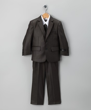 Slate Five-Piece Suit Set - Toddler & Boys