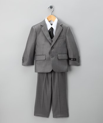Gray Five-Piece Suit Set - Boys