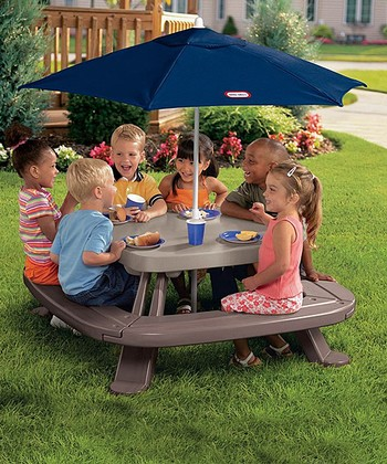Fold 'n' Store Picnic Table & Market Umbrella