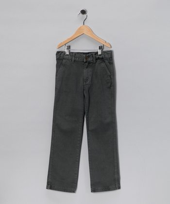 Gray Chino Pants - Infant, Toddler & Boys