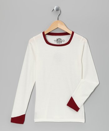 Vanilla & Biking Red Square Neck Tee - Girls