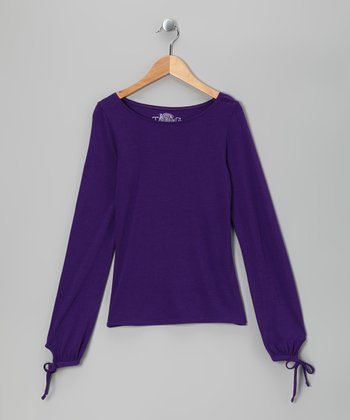 Petunia Boatneck Tee - Girls