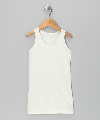 White Basic Tank - Girls