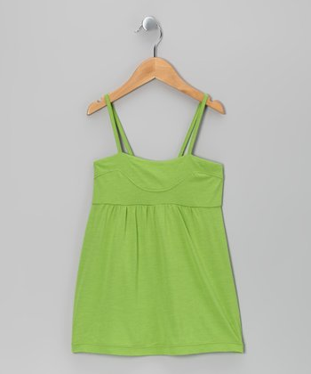 Green Babydoll Top - Girls