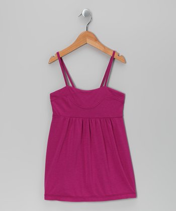 Fuchsia Babydoll Top - Girls