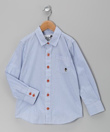 Light Blue Bengal Stripe Button-Up - Toddler & Boys