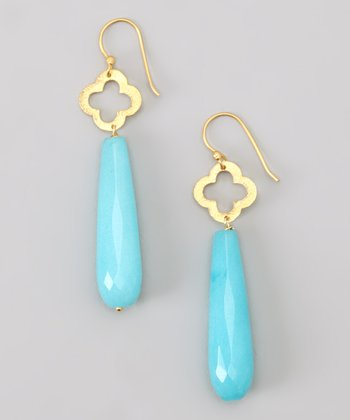 Turquoise Clover Drop Earrings