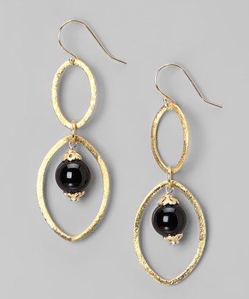 Onyx Double Link Drop Earrings